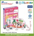 clever&happy 3d puzzle model  Delicious Dessert Shop Of Leer  paper model puzzle diy puzzle girl toys games for children
