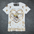 Women bronzier embroidery bee short-sleeve t-shirt basic