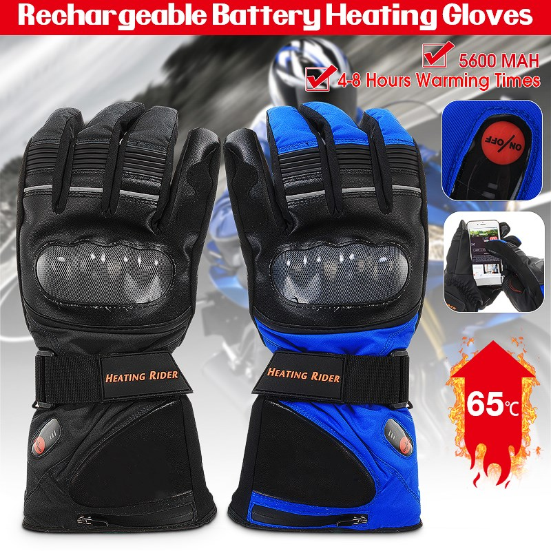 Electric Thermal Gloves Rechargeable Battery Heated Gloves Winter Hand Warmer Cycling Motorcycle Bicycle Ski Skiing Gloves