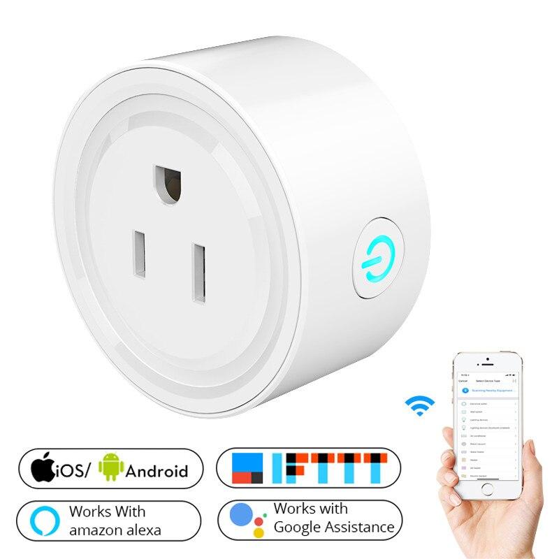 2018 Nouveau Smart Wifi Socket US Plug Power Mobile APP Télécommande Fonctionne avec Amazon Alexa Google Maison pour Smart vie