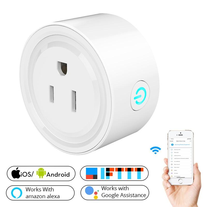 2018 Nuova Presa di Smart Wifi US Spina di Alimentazione Mobile APP Telecomando Funziona con Amazon Alexa Google Casa per Smart vita