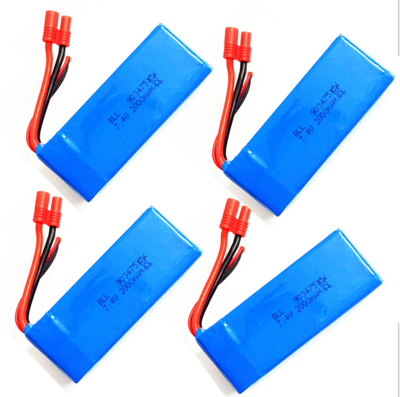 4 pcs SYMA X8 X8A  X8C X8C-1 X8W 7.4V 2000 mAh Li-po Battery RC Quadcopter X8C Spare Parts syma x8 x8c x8w x8g mjx x600 x101 v666 rc drone li po battery charger plug multi output cable x8c rc quadcopter spare parts