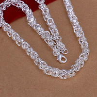 N061 Hot Sale 925 Silver Necklace Fashion Sterling Silver Jewelry Necklace For Christmas Gift