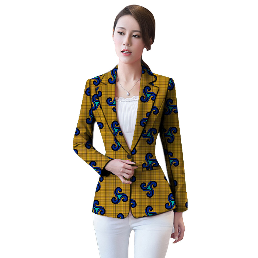 African clothing women 39 s print blazers slim fit Ankara fashion suit jackets custom made wedding jackets formal outfit in Blazers from Women 39 s Clothing