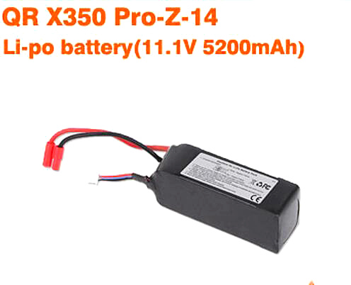 Walkera QR X350 PRO 11.1v 5200mAh 3S Li-Po Battery QR X350 PRO-Z-14 Quadcopter walkera qr x350 pro battery 11 1v 5200mah lipo battery qr x350 pro z 14 walkera qr x350 pro parts shipping by plane