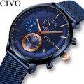 Часы Reloj Hombre CIVO мужские спортивные водонепроницаемые часы лучший бренд класса люкс Дата Неделя хронограф мужские военные наручные часы