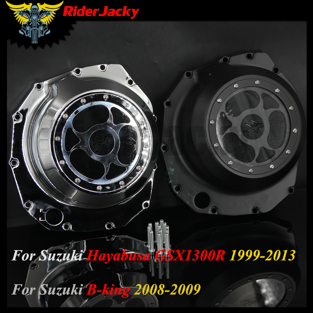 Chrome&Black Motorcycle Aluminum Engine Stator Cover For Suzuki GSX 1300R Hayabusa GSX1300R 1999-2013,B-king B king 2008-2009 aftermarket free shipping motorcycle parts blade style rear foot peg for 1999 2007 suzuki gsx 1300r r hayabusa gsx r chrome