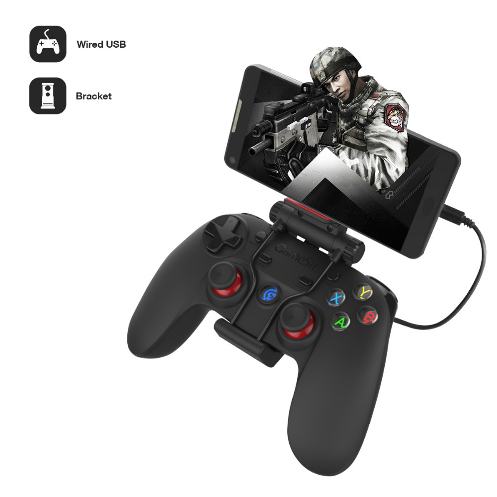 Gameser G3w Wired ג 'ויסטיק USB2.0 Gamepad Controller עבור אנדרואיד Smartphone Tablet PC מחשב נייד (עם hoder)