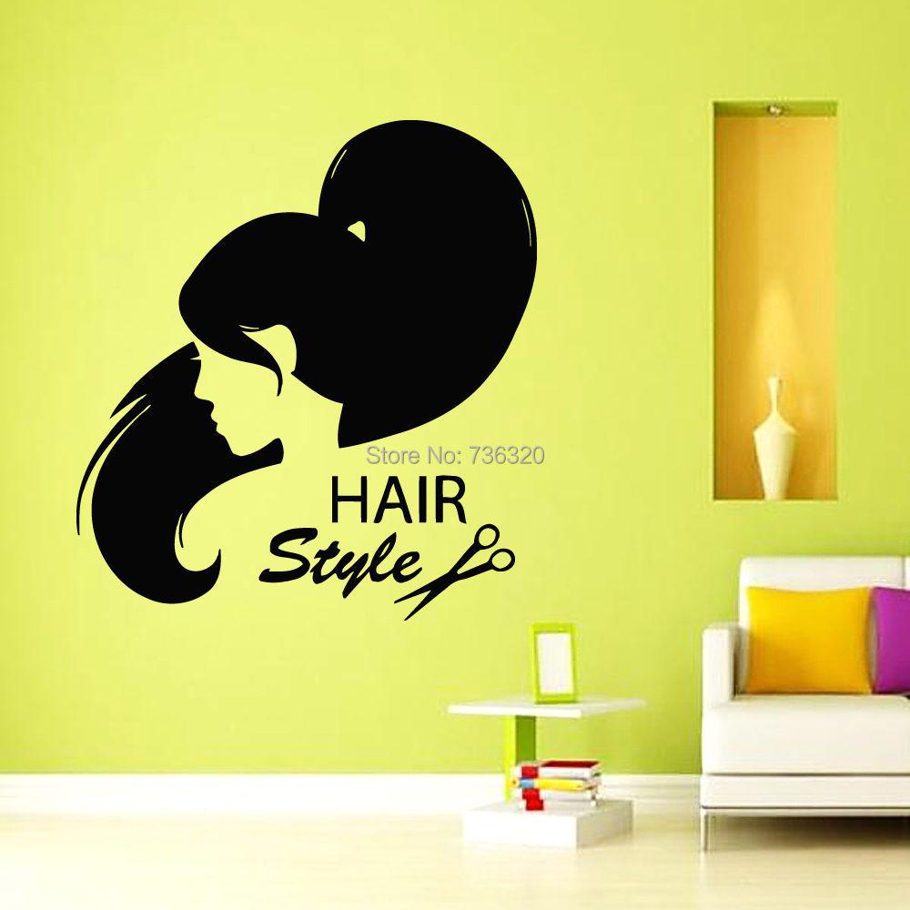 New Arrival Hair Beauty Salon Vinyl Wall Decal Girl Teen Barbershop ...