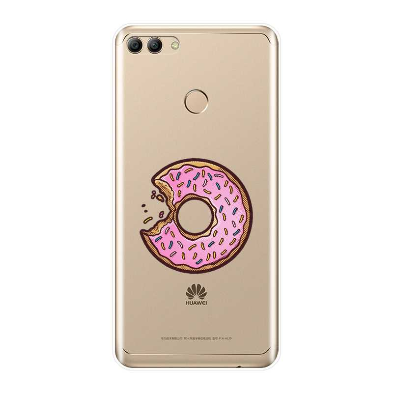 כיסוי אחורי עבור Huawei Y5 Y6 Y7 ראש 2017 2018 Y9 2019 סיליקון רך סופגנייה Cooky מקרה עבור Huawei Y3 y5 Y6 השני Y7 פרו טלפון מקרה