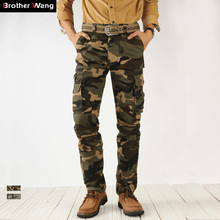 2020 Autumn New Camouflage Cargo Pants Men High Quality Fashion Casual Straight Cotton Brand Tactical Trousers Male
