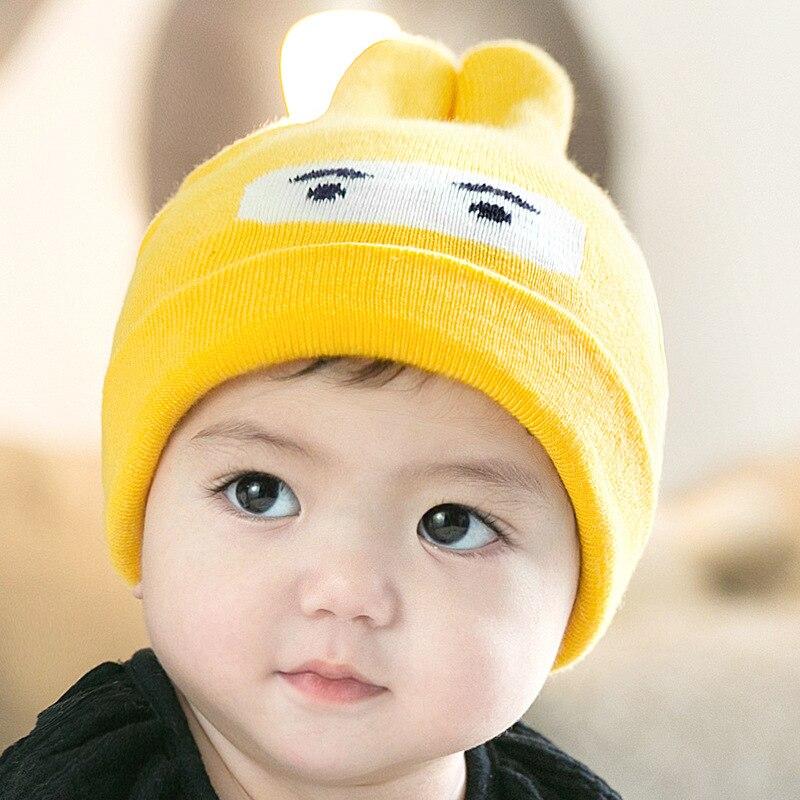 Gorros De Invierno Para Niños Bebes Cálido Ropa Baby 0-5 Años Algodón Yellow