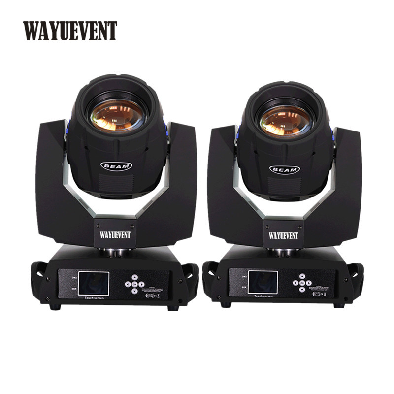 2pcs Sharpy beam 230 moving head light 230W beam 7r moving head beam light Disco club party light 7r beam sharpy moving head light 230w white housing moving head beam stage light beam 230 dmx dj disco club lighting