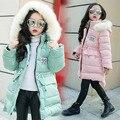 2016 Moda Para Baixo da Menina jaquetas/casacos de inverno Casacos grossos do bebê Rússia pato Quente jaqueta Crianças Outerwears