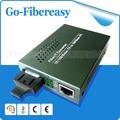 2 unids/lote único modo de fibra Duplex 10 / 100 Mbps fibra óptica Media Converter con estándar americano