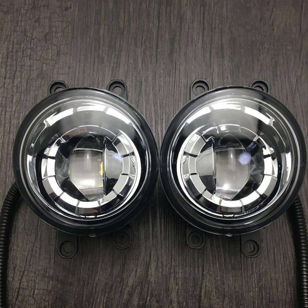 2шт алюминиевый сплав передний бампер светодиодные Противотуманные свет замены для Тойота RAV4 2006-2012