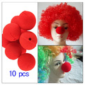 10 PCS Party Sponge Ball Red Clown Magic Nose for Halloween Masquerade Ball