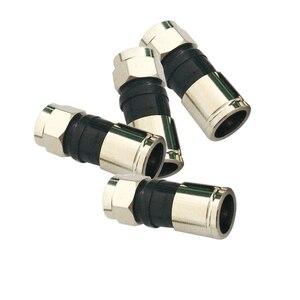 10 шт., компрессионные соединители типа RG6 F для спутникового кабеля Sky Satellite, 2,7 см