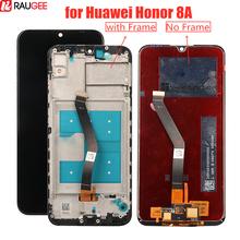 Ekran LCD do Huawei Honor 8A wyświetlacz LCD + ekran dotykowy z ramką wymiana dla Huawei Honor 8A 6 09 LCD Digitizer tanie tanio raugee Pojemnościowy ekran Nowy 3 For Huawei honor 8A display lcd LCD i ekran dotykowy Digitizer 1560X720 6 09inch