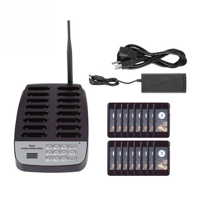 SU-66 1 Transmitter + 16 Máy Nhắn Tin 999-kênh gọi điện thoại bàn phím Không Dây Phân Trang Của Khách Hệ Thống Xếp Hàng Hệ Thống Máy Nhắn Tin Gọi Điện Thoại Hệ Thống
