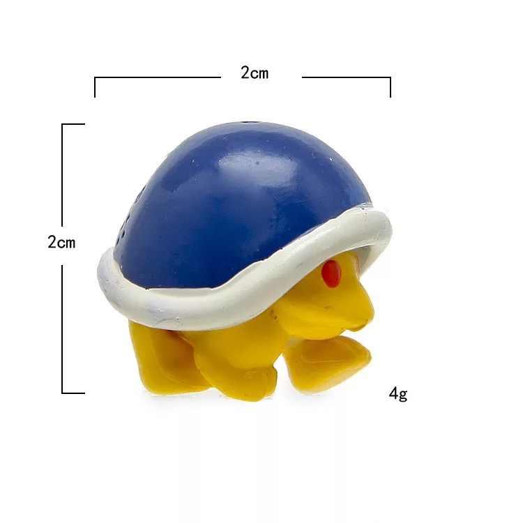 """8 יח'\סט 2.5 ס""""מ צעצועי מריו Goomba ואיג 'י דמויות האחים סופר מריו Koopa Troopa בלוקים פטריות PVC פעולה איור דגם בובות"""