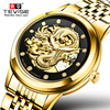 Relogio Masculino Genuine TEVISE Mens Watches Top Brand Luxury Gold Dragon Sculpture Mechanical Watch Men Full