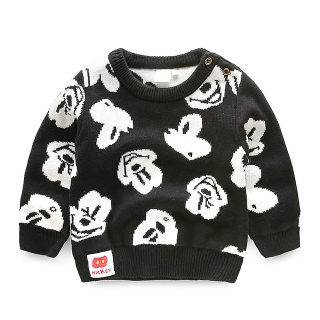 Baby Children Boys Cotton Sweaters Autumn 2017 Cotton Kids Pullover
