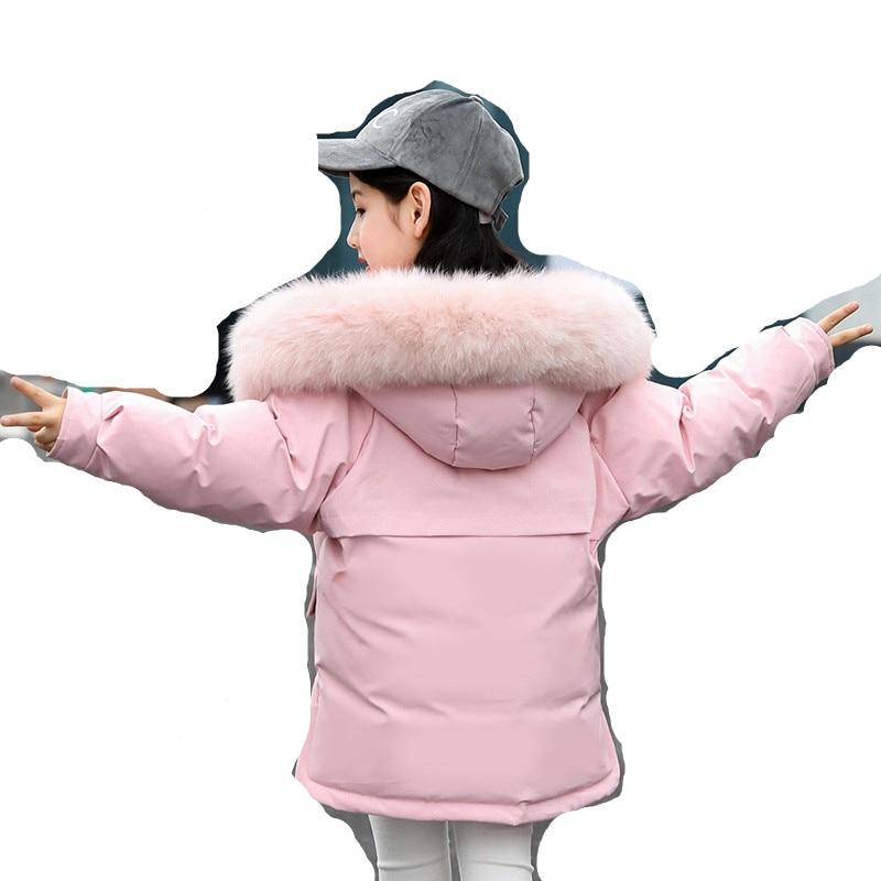 c7a9187f7fde 2019 Kids Winter Jacket for Girls Coats Fashion Hooded Fur Children ...