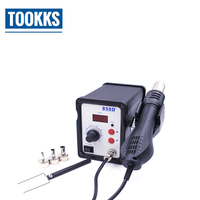 700W LED Digital Soldering Station Hot Air Gun 858D+ BGA Rework Welding Machine For IC SMD Motherboard Repair With 3 Nozzles