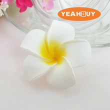 wholesale 100pcs 7cm hawaian 5COLORS  real touch Artificial PE plumeria Flower Heads DIY wedding party headware decoration