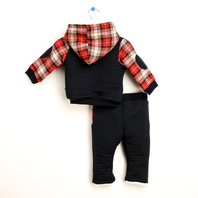 Baby Hoodie Sweatshirt and Trousers Set  For Baby Girls