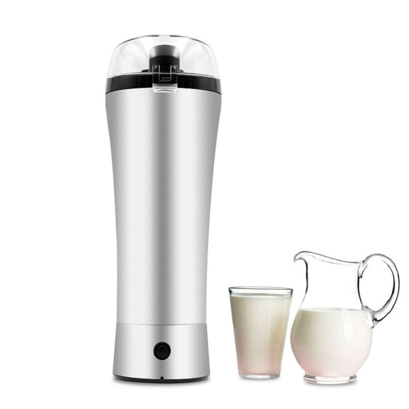 2019 New electric stainless steel protein shaker bottle Outdoor Gym Sports Fitness Training Drink Powder Milk Mixer water bottle image