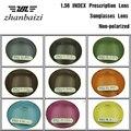 ZBZ ÓPTICO Personalizado Cyeing Lente para Os Olhos do Índice de 1.56 Lente Asférica Lentes de Prescrição Óculos Coloridos Lens