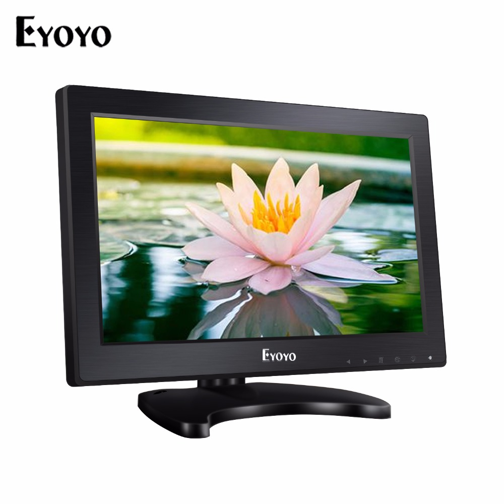 Eyoyo 11.6 inch HDMI LCD Monitor HD 1366*768 TFT LCD Video Monitor HDMI VGA BNC AV Audio For DSLR PC CCTV DVD aputure digital 7inch lcd field video monitor v screen vs 1 finehd field monitor accepts hdmi av for dslr