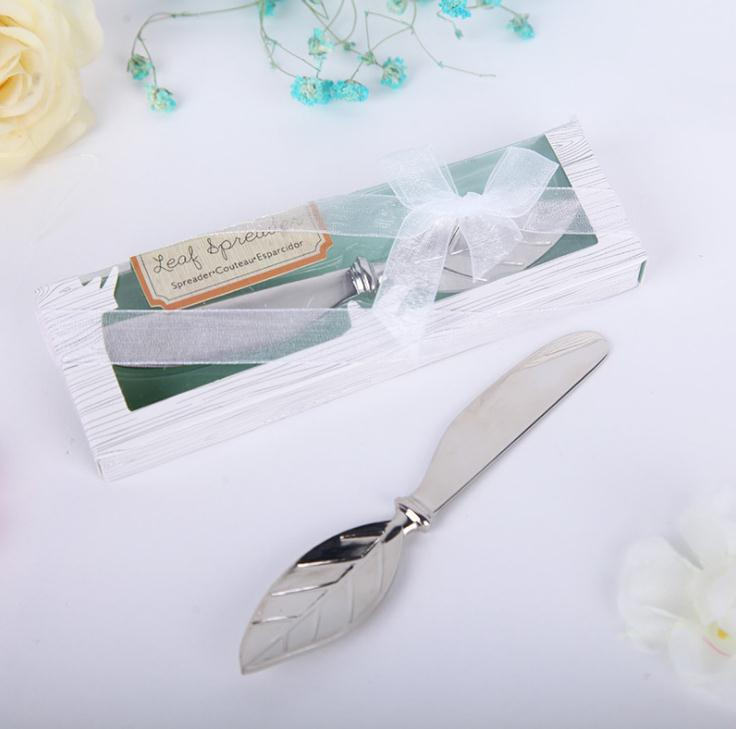 Free shipping New arrival Chrome Leaf butter <font><b>knife</b></font> Spreader Valentines Day <font><b>gift</b></font> Christmas <font><b>wedding</b></font> <font><b>favors</b></font> SN936 image