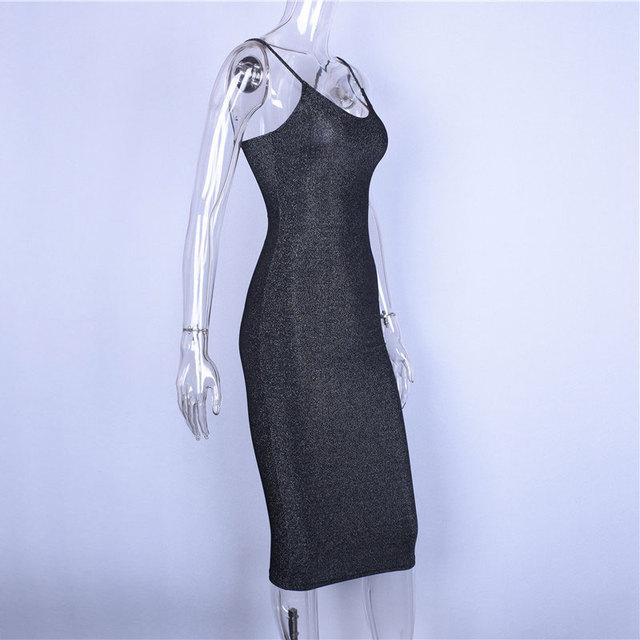 Hugcitar spaghetti straps slash neck backless sexy long dress 2018 women high waist bodycon elegant fashion party dresses 5