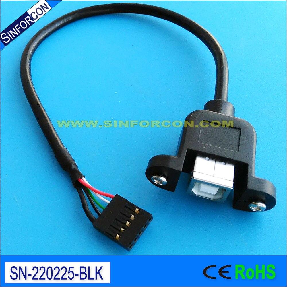 20 սմ usb2.0 տիպի բ կին է մինի USB մալուխ USB bf - Համակարգչային մալուխներ և միակցիչներ - Լուսանկար 2