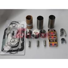 цена на For Mitsubishi engine K3B engine rebuild kit Piston + ring cylinder liner full gasket bearing kit
