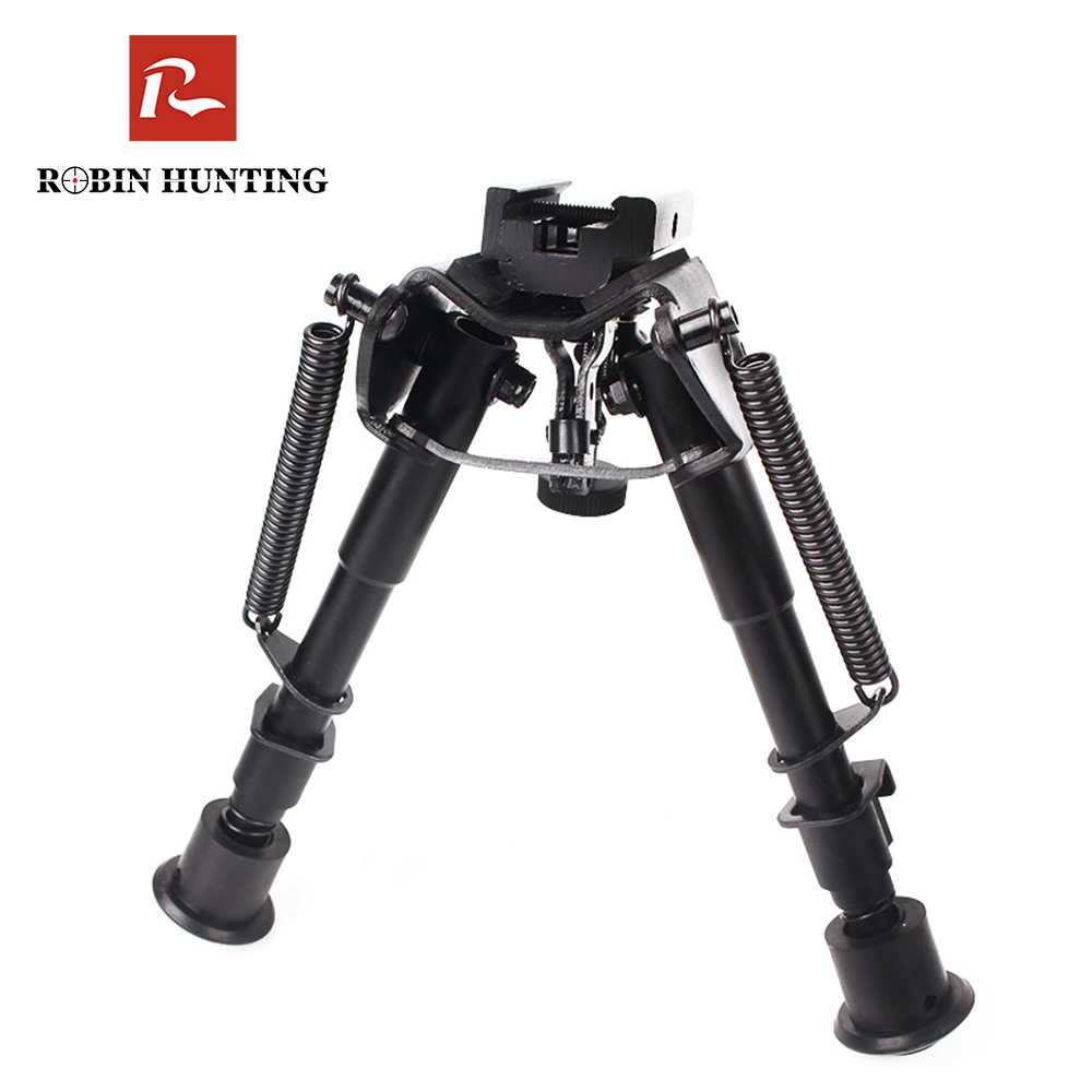 Tactical Rifle Bipod 6-9 Inches Adjustable Spring Return with Adapter Riflescope Accessories Mount For Hunting Air Gun