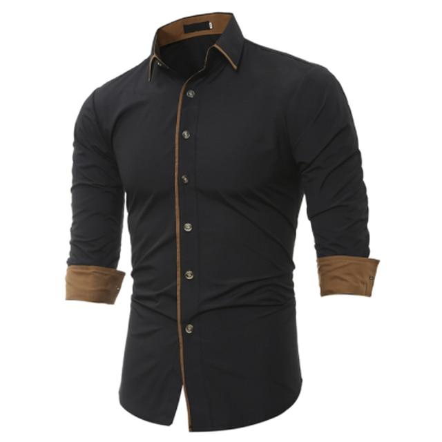 a72a9997ef Dos homens Camisas Casuais 2018 de Alta Qualidade Camisa de Manga Longa  Casuais Homem Camisas de
