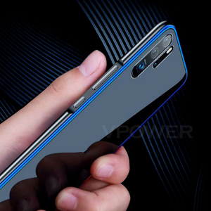 Image 5 - for Huawei P30 Case P30 Pro Metal frame + Tempered Glass Cases Case Colorful Smooth Back Cover P 30 Pro mate 20 pro metal Shell