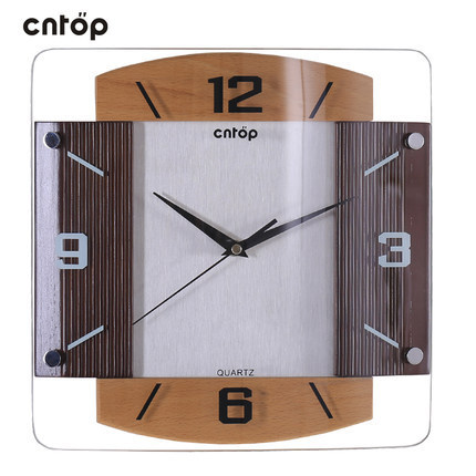 Modern design high quality watch fashion personality simple wood living room wall clock jumping seconds 8 inches free shipping