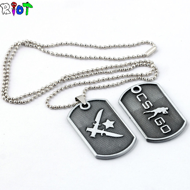 Game Cs Go Round Bead Chain Stainless Steel Necklace