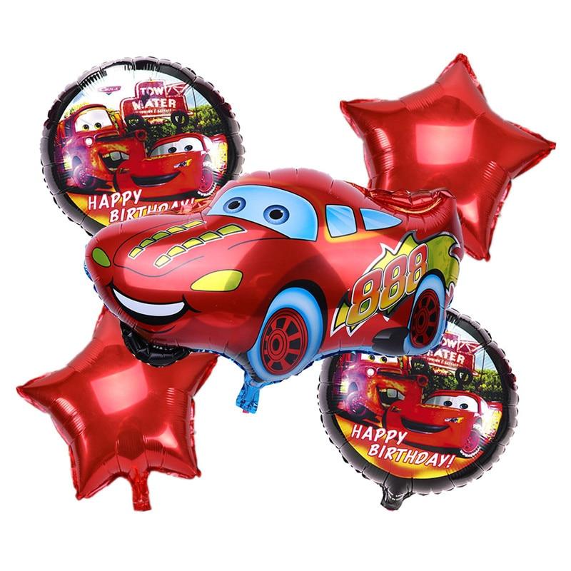 5pcs/lot  Cartoon Car Foil Balloons Star Helium Balloon Inflatable children clas