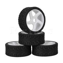 Mxfans 4 x RC 1:8 Off Road Автомобиль Белого 5 Говорил Пластиковый Обод Колеса + Высокого Сцепления Резиновых Шин