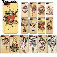 Yinuoda Sailor Jerry Del Tatuaggio 06 Cliente di Alta Qualità Cassa Del Telefono per il iPhone di Apple 8 7 6 6S Plus X XS MAX 5 5S SE XR Copertura(China)