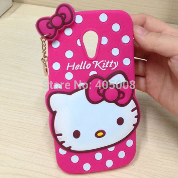 new arrival 4ff15 b9850 US $350.0 |Cute Dots Cartoon Hello Kitty Bow Silicone Soft Case Back Cover  For Motorola Moto G2 G 2 2nd Gen XT1063 XT1069 XT1068 Phone Case on ...