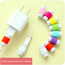 10pcs/lot USB  Cable clip  Earphone Protector Colorful Earphones Cover For Apple iPhone Samsung HTC Free shipping
