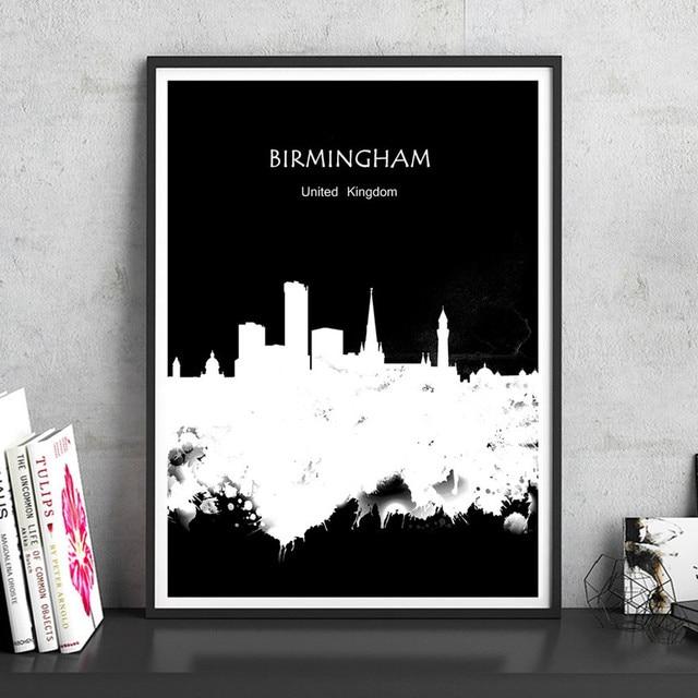 Aliexpress Buy BIRMINGHAM UK Watercolor Print Poster Home Delectable Home Decor Stores In Birmingham Al