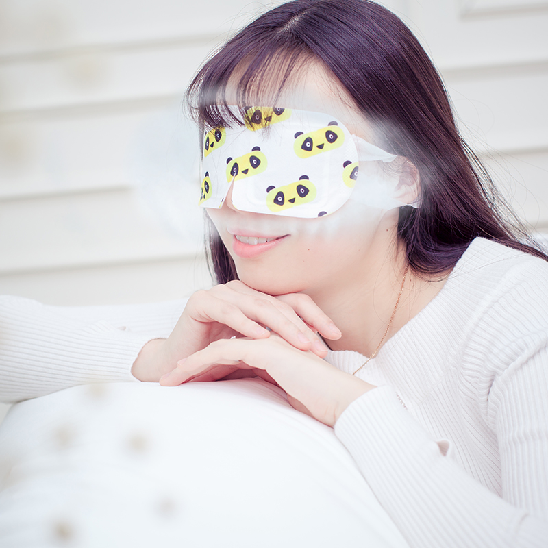3 Bolsas Máscara de ojos para dormir con máscara de vapor Blcak - Cuidado de la salud